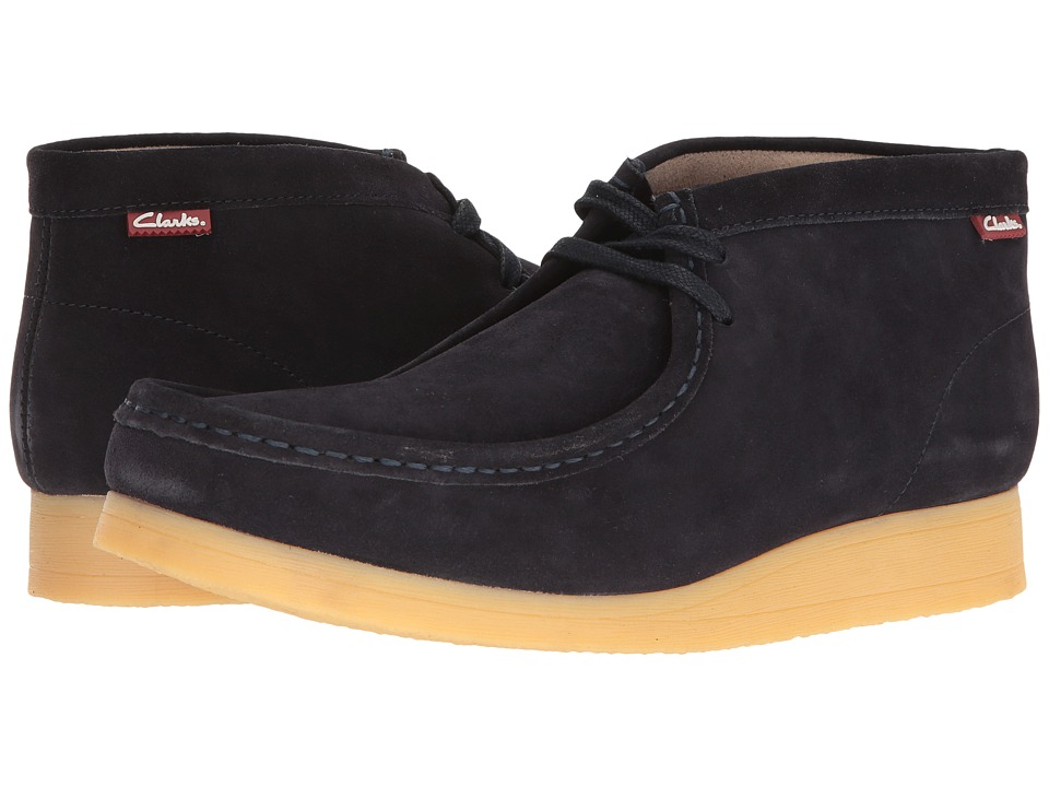 Clarks - Stinson Hi (Dark Blue Suede) Men's Shoes