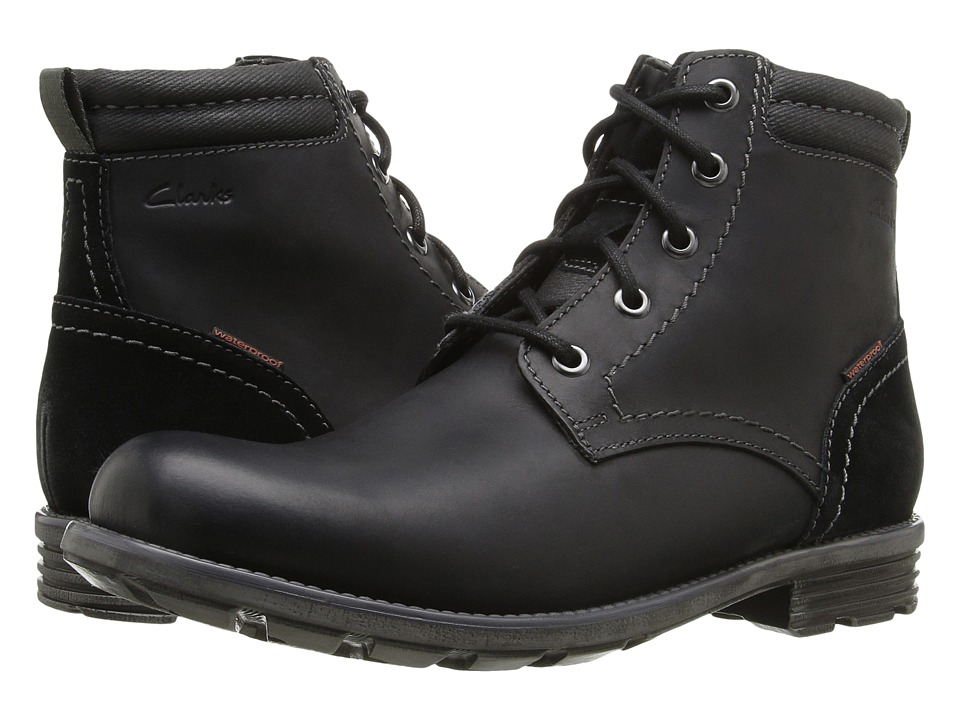 Clarks Guard Peak (Black Leather) Men