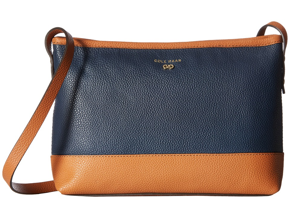 Cole Haan - Beckett Crossbody (Blazer Blue/British Tan Color Block) Cross Body Handbags