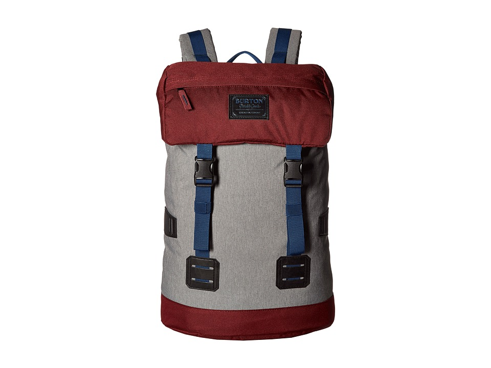 Burton - Tinder Pack (Grey Heather/Zinfandel) Backpack Bags