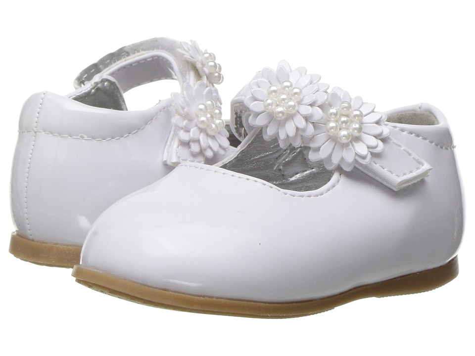 Josmo Kids - Floral Mary Jane (Infant/Toddler) (White Pattern) Girl's Shoes