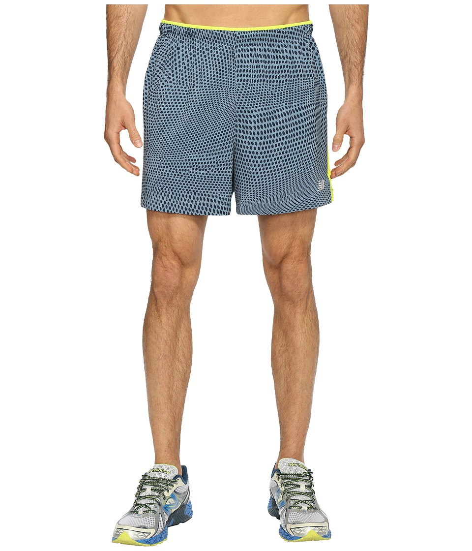 New Balance - Impact Track Shorts (Riptide Print) Men's Shorts