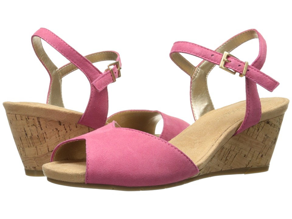 Aerosoles - Cupcake (Pink Suede) Women's Wedge Shoes