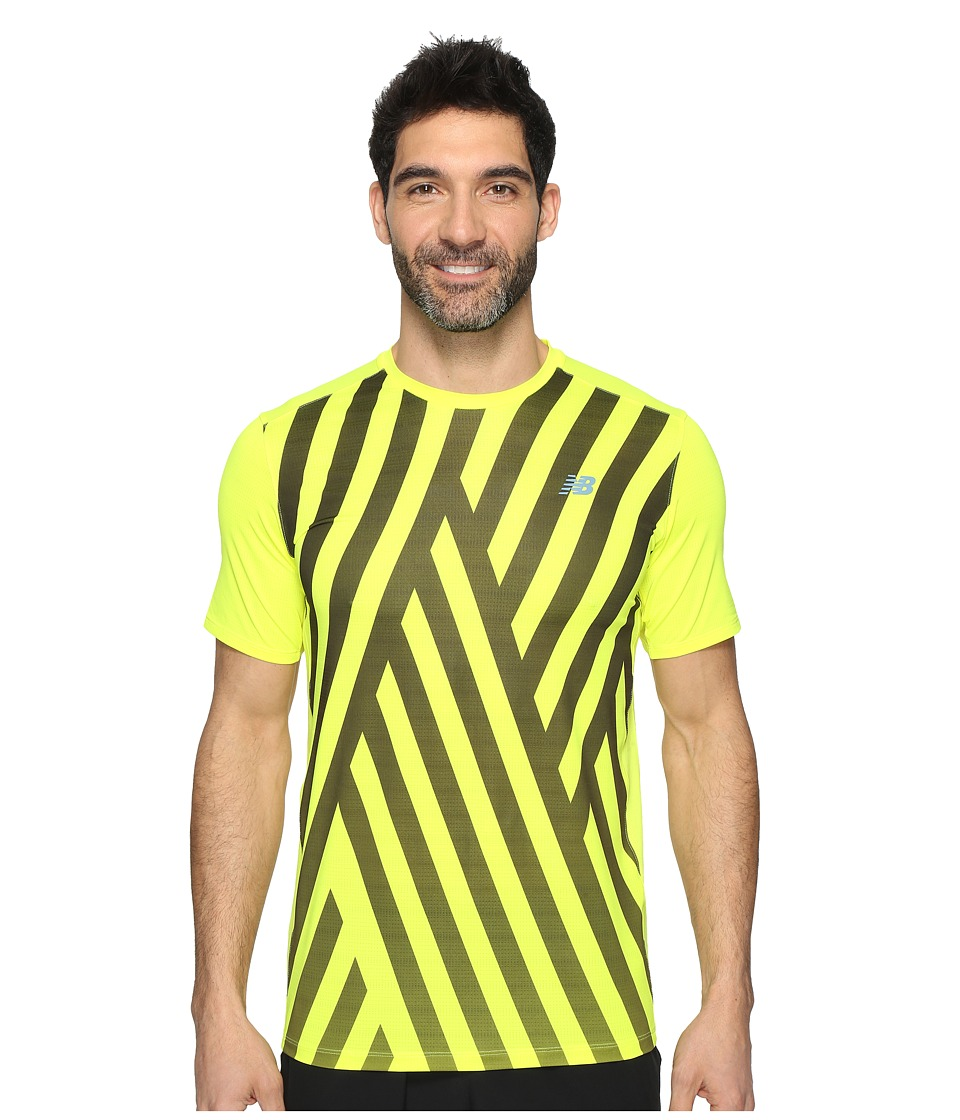 New Balance - Brunton Crew Shirt (Firefly Print) Men's Short Sleeve Pullover