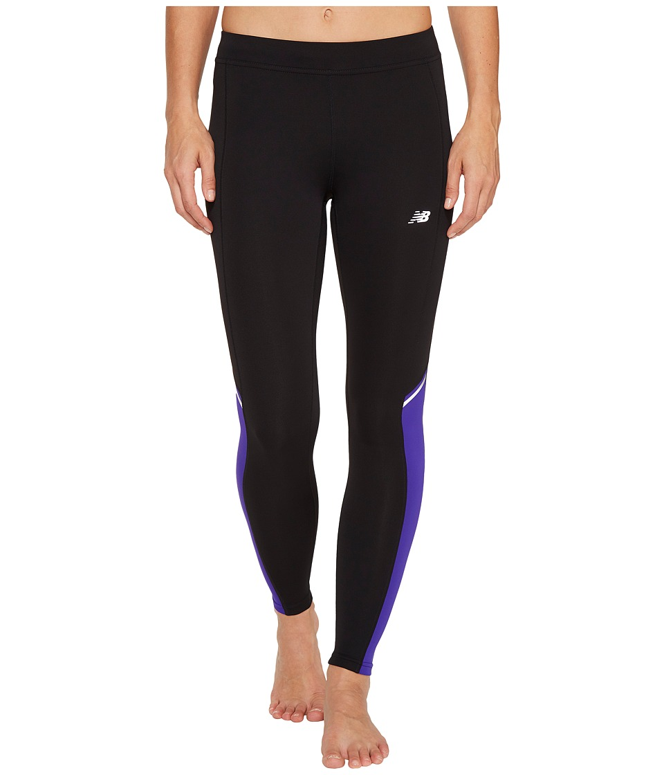 New Balance - Accelerate Tights (Spectral/Black) Women's Casual Pants