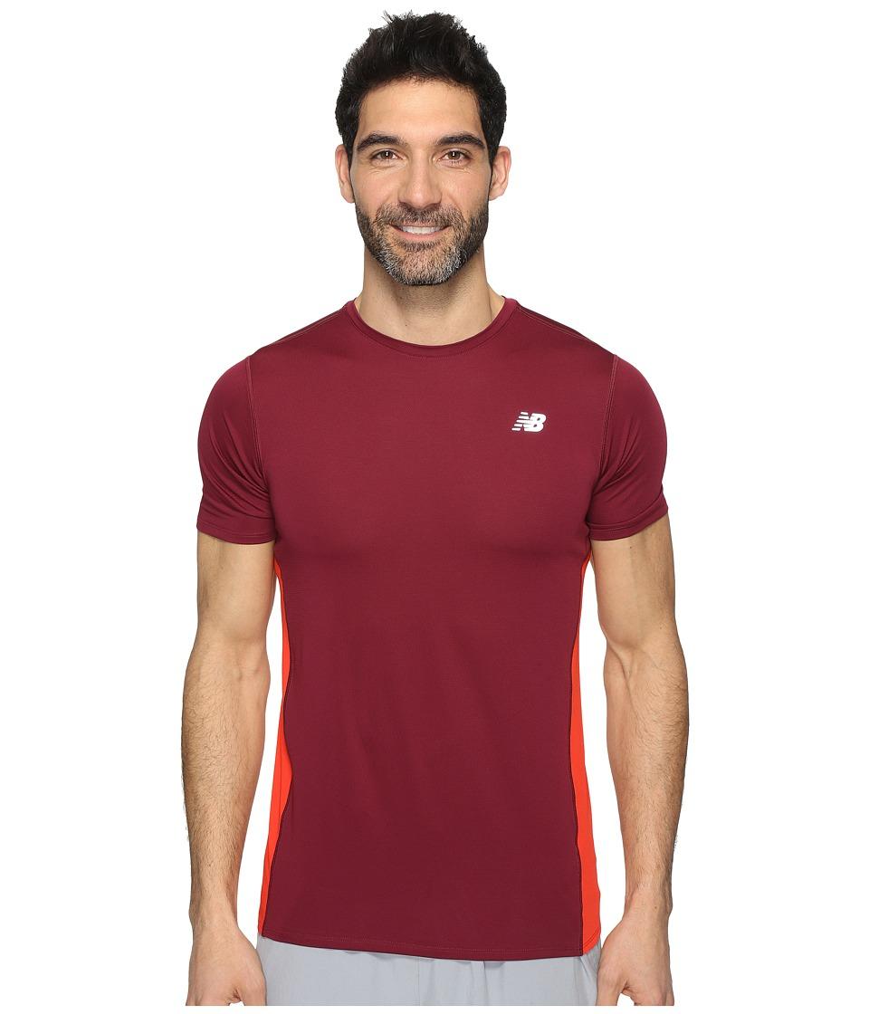 New Balance - Accelerate Short Sleeve (Sedona Red) Men's Clothing