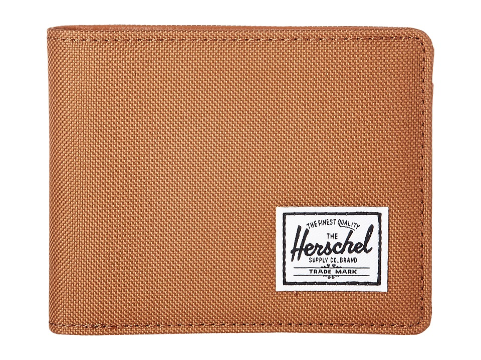 Herschel Supply Co. - Hank RFID (Caramel/Tan Synethetic Leather) Wallet Handbags