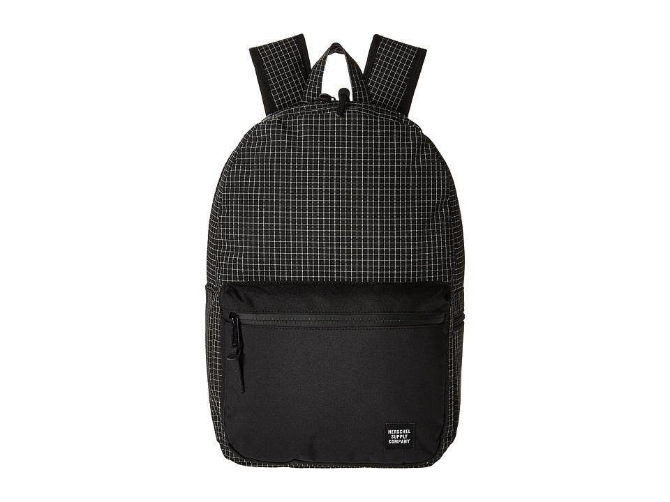 Herschel Supply Co. Harrison (Black Grid) Backpack Bags