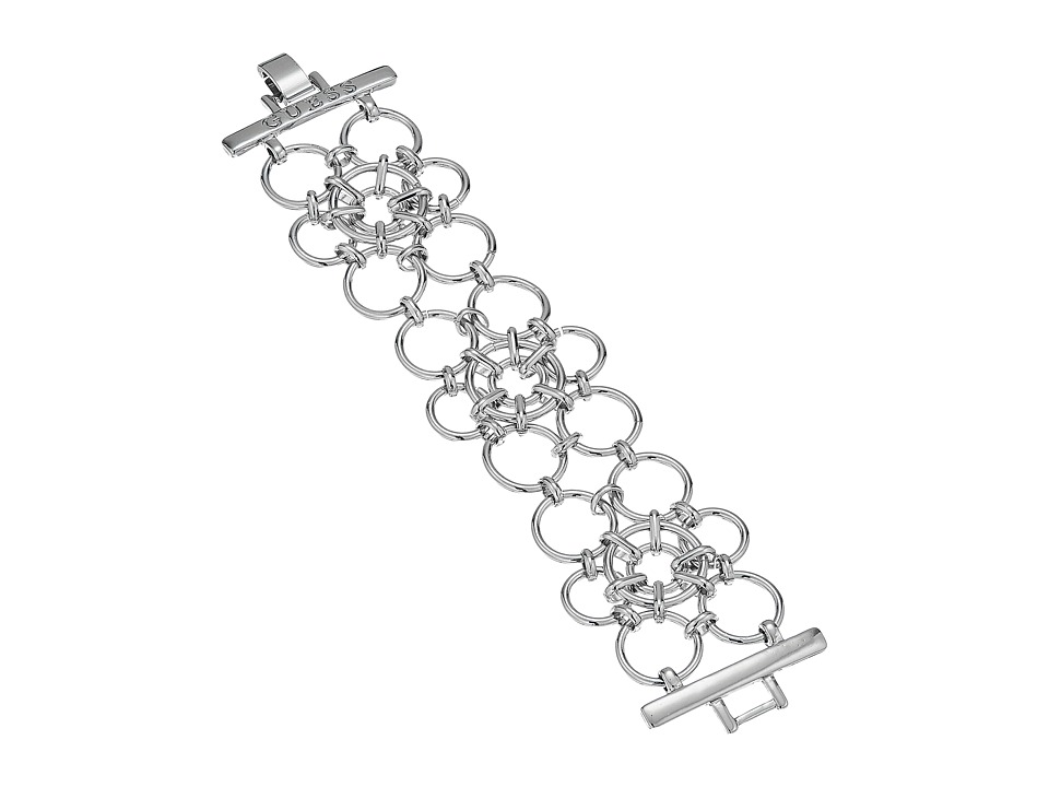 GUESS - Linked Rings Line Bracelet (Silver) Bracelet
