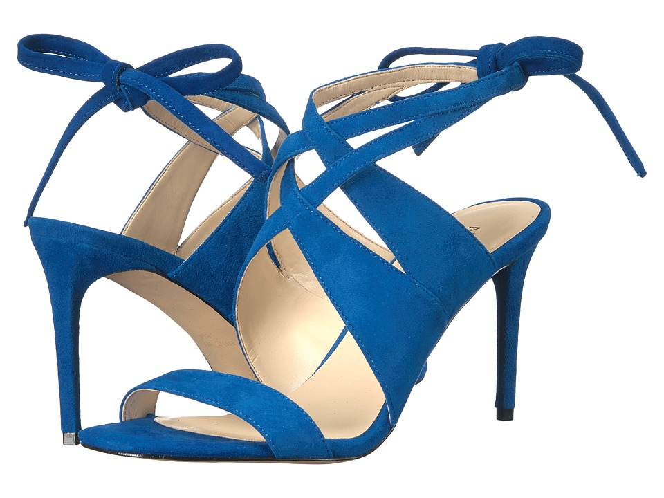Nine West - Ronnie (Blue Suede) High Heels