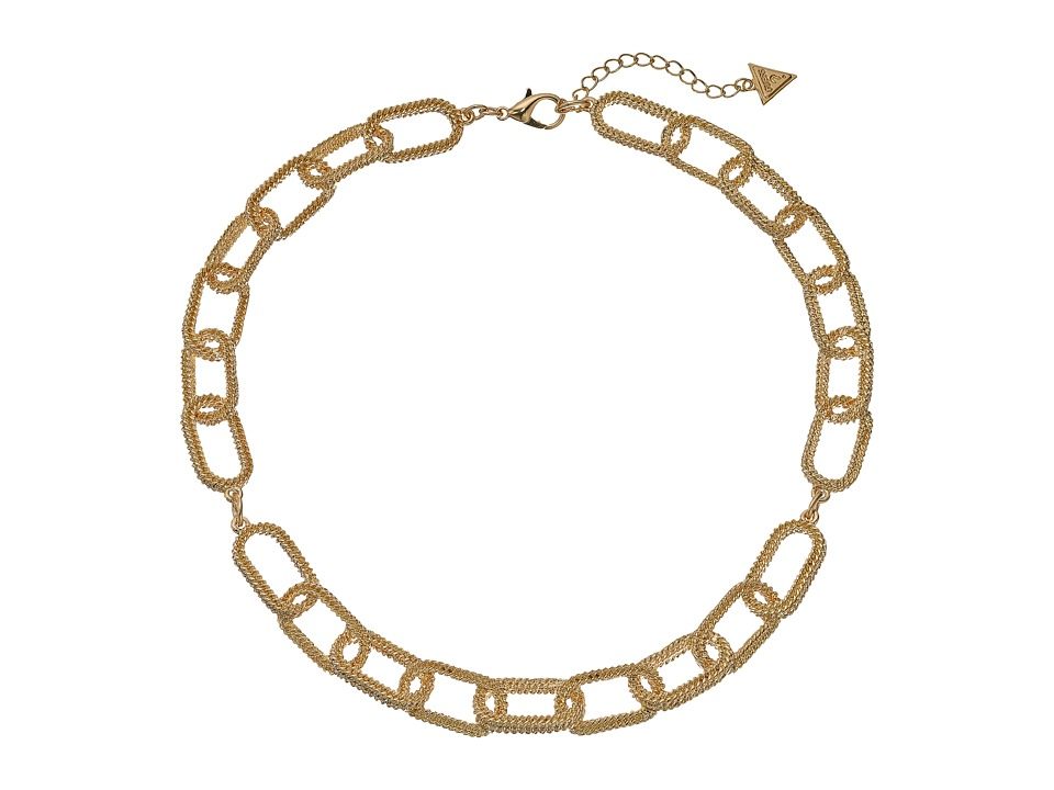 GUESS - Oval Link Collar Necklace (Gold) Necklace