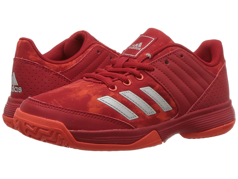 adidas Kids - Ligra 5 Volleyball (Little Kid/Big Kid) (Scarlet/Energy/White) Kids Shoes