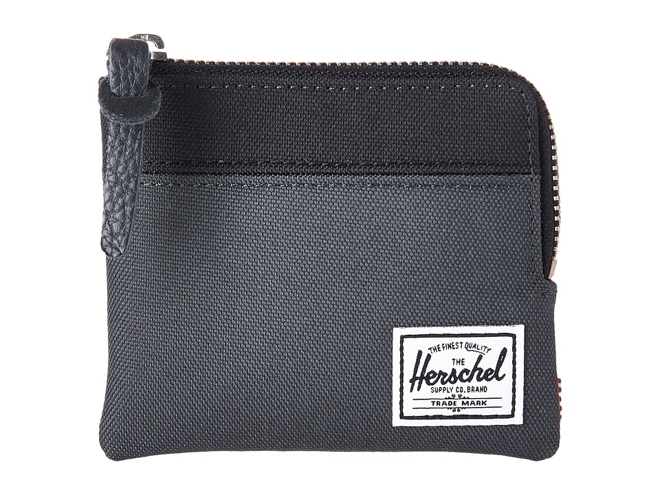 Herschel Supply Co. - Johnny RFID (Dark Shadow/Black) Wallet Handbags