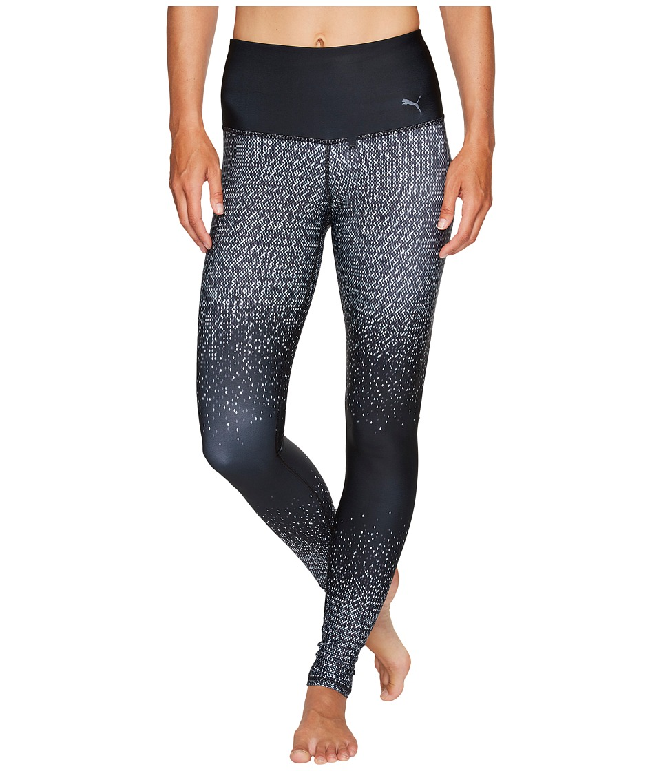 PUMA - Everyday Train Graphic Tights (Quarry/Puma White/Periscope) Women's Workout