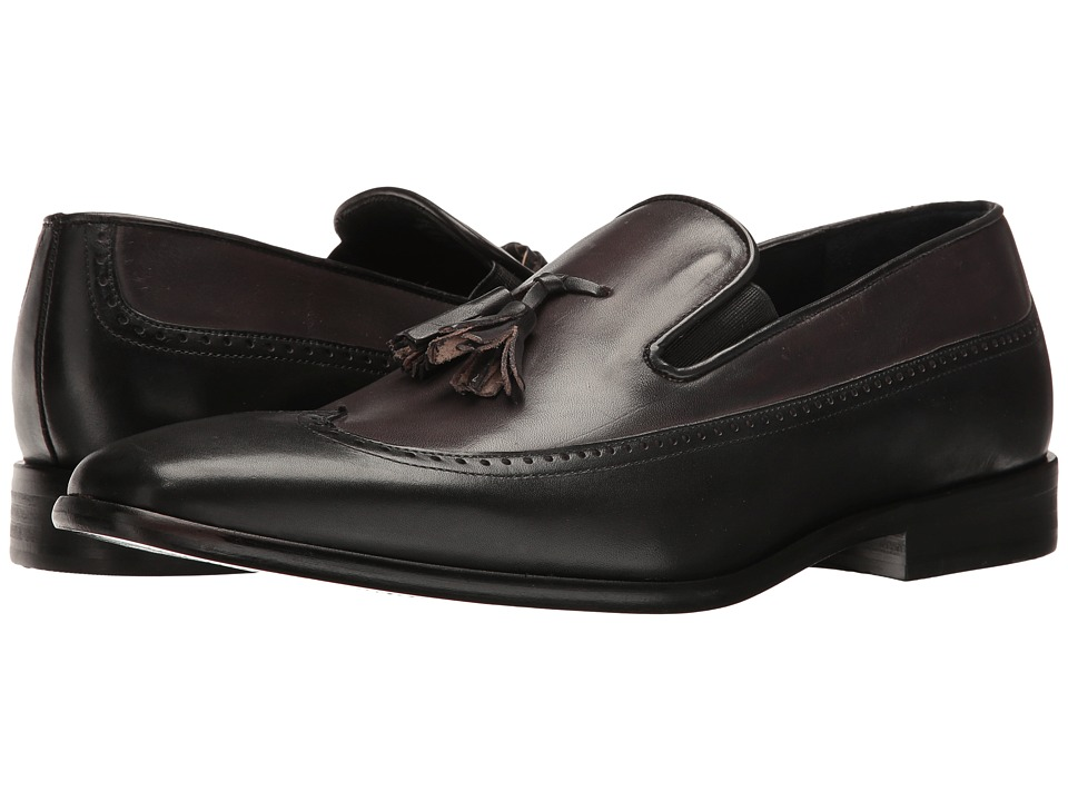 Messico - Paco (Black/Grey Leather) Men's Shoes