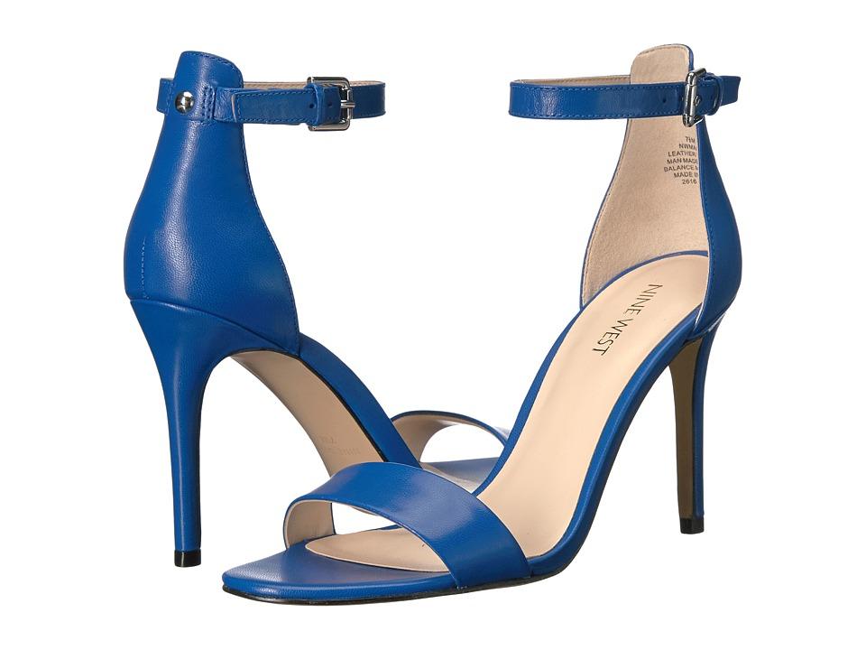 Nine West - Mana (Medium Blue Leather) High Heels