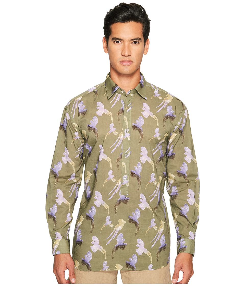 Missoni - Printed Birds Button Up (Green) Men's Clothing