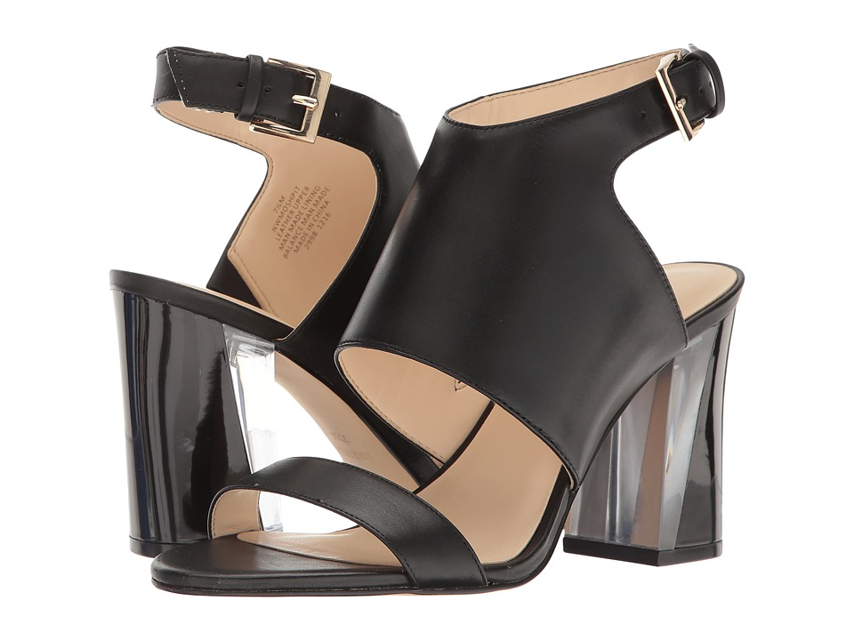 Nine West - Moshpit (Black Leather) High Heels