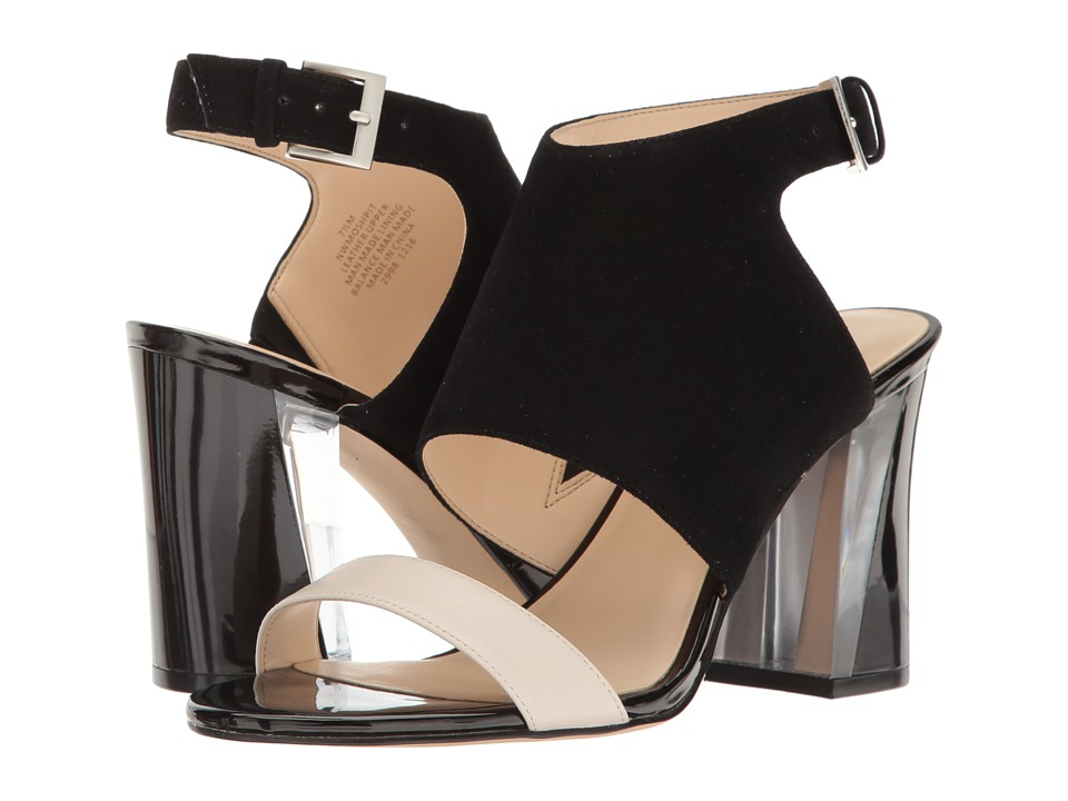 Nine West - Moshpit (Black/Off-White Suede) High Heels
