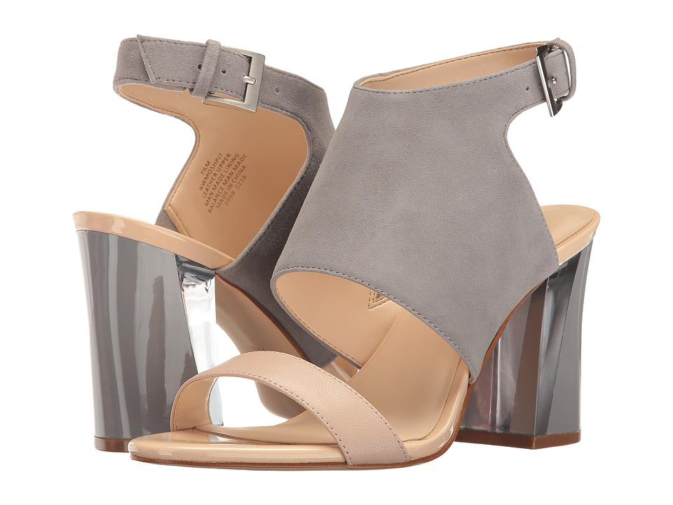 Nine West - Moshpit (Grey/Natural Suede) High Heels