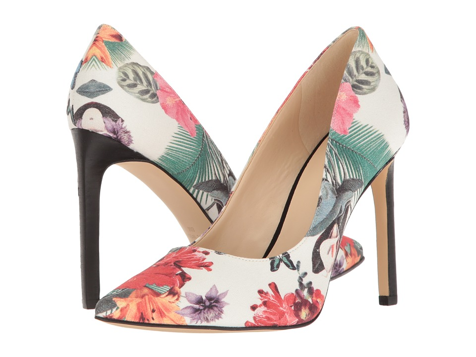 Nine West - Tatiana (Off-White Floral Fabric) High Heels