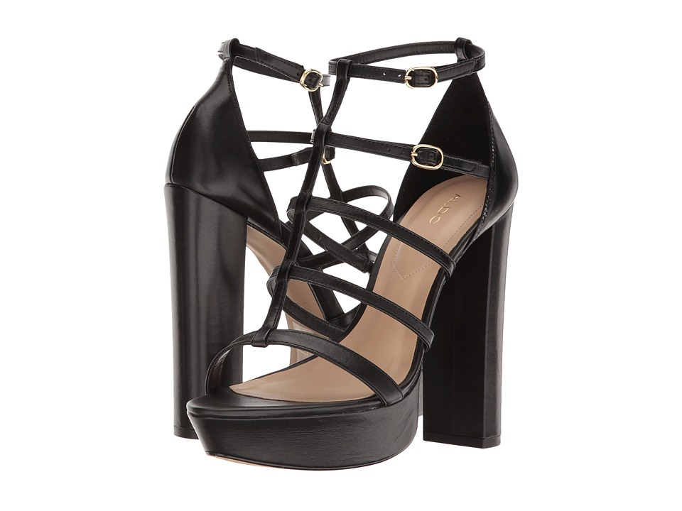 ALDO - Elyni (Black Leather) High Heels