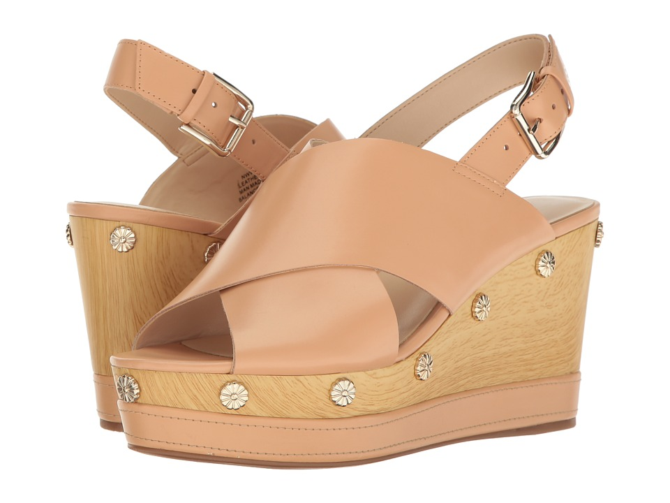 Nine West - Vanessa (Light Natural Leather) Women's Wedge Shoes