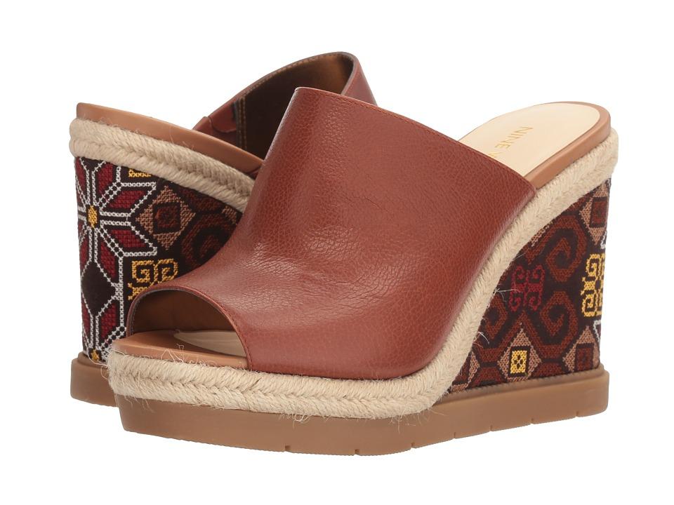 Nine West - Vip 11 (Cognc Leather) Women's Wedge Shoes