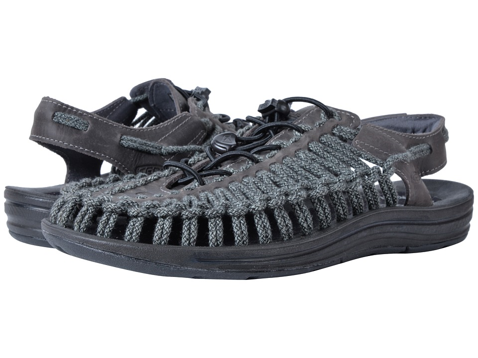 Keen - Uneek Leather (Magnet/Black SC) Men's Shoes