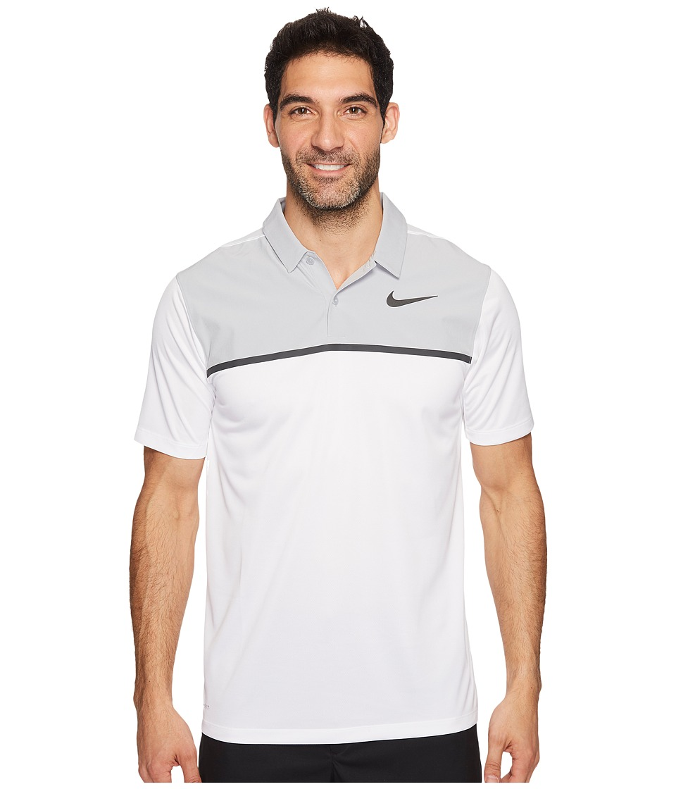 Nike Golf - TW Mobility Blocked Polo (White/Wolf Grey/Anthracite) Men's Short Sleeve Pullover