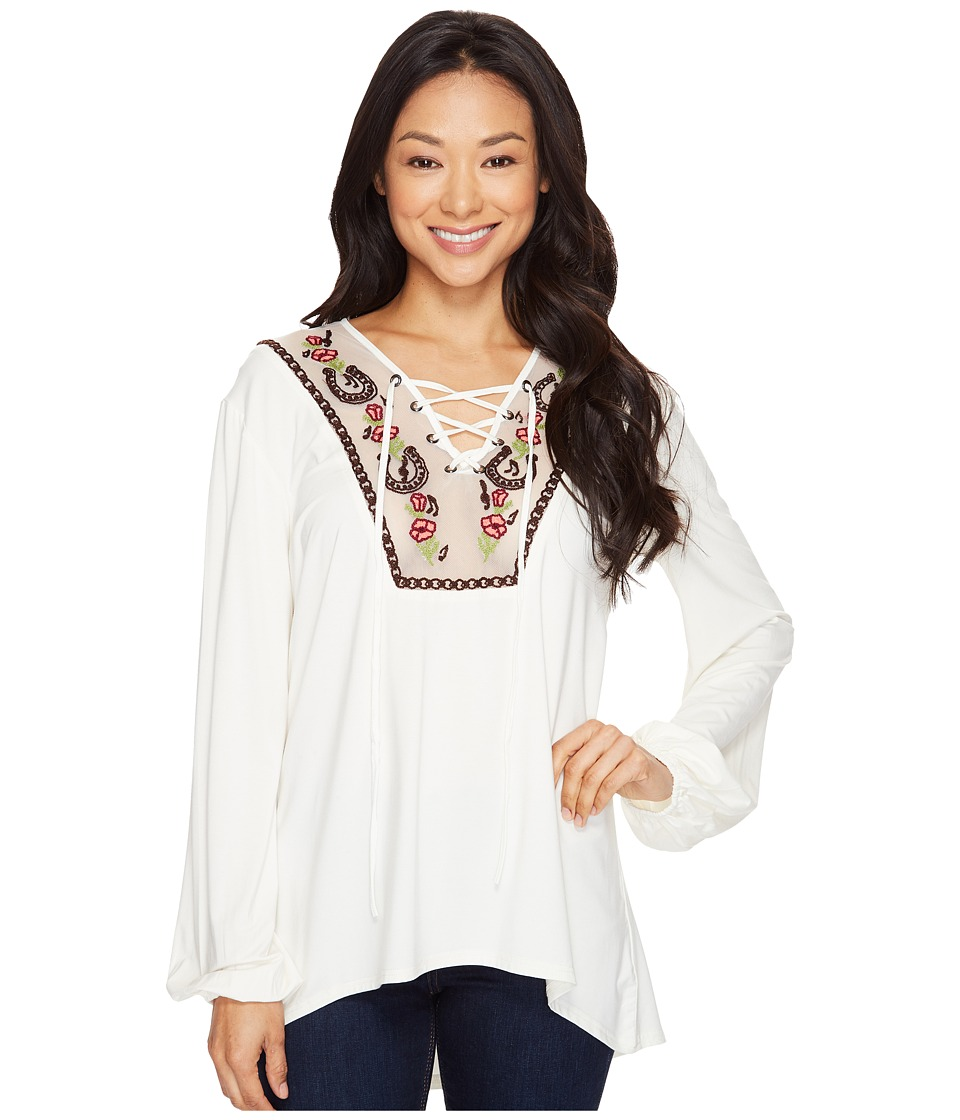 Double D Ranchwear - Melody Maker Peasant Top (String) Women's Clothing