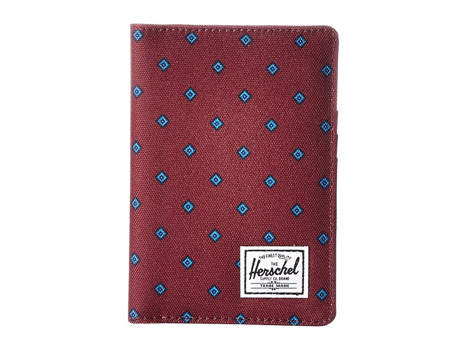 Herschel Supply Co. - Raynor Passport Holder RFID (University Windsor Wine/Peacoat) Wallet Handbags