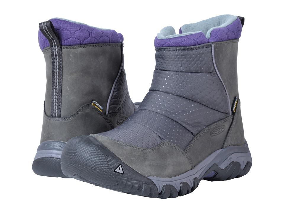 Keen Hoodoo III Low Zip (Earl Grey/Purple Plumeria) Women