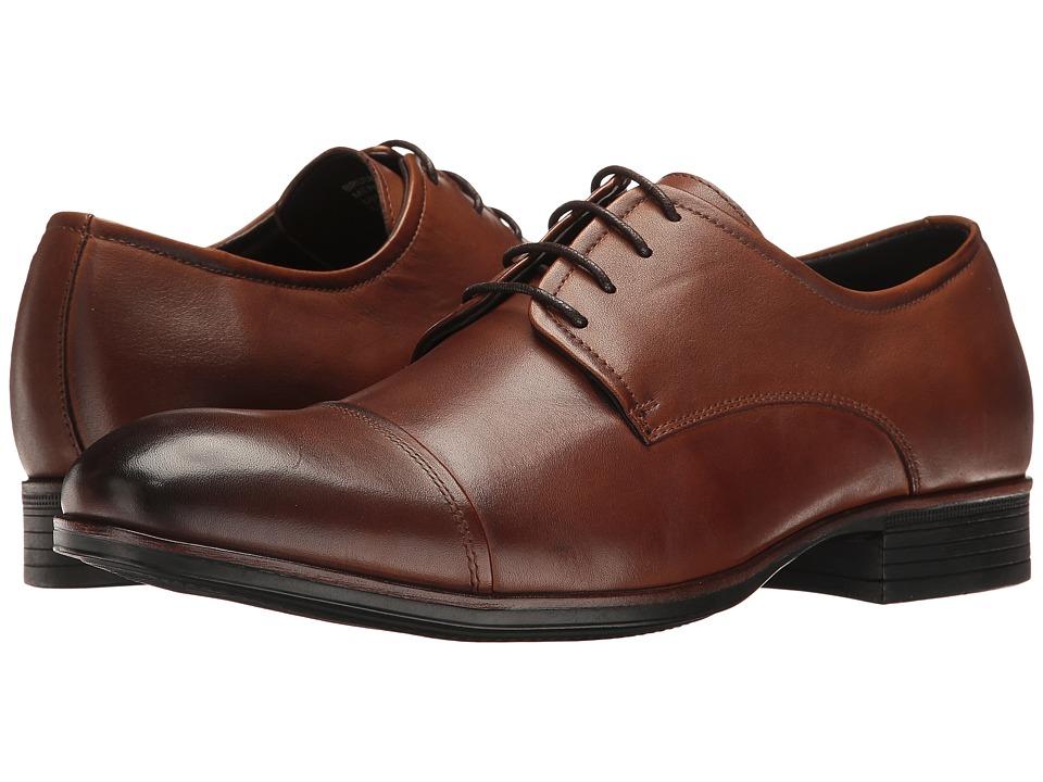 Kenneth Cole Reaction - Brush Stroke (Cognac) Men's Lace up casual Shoes