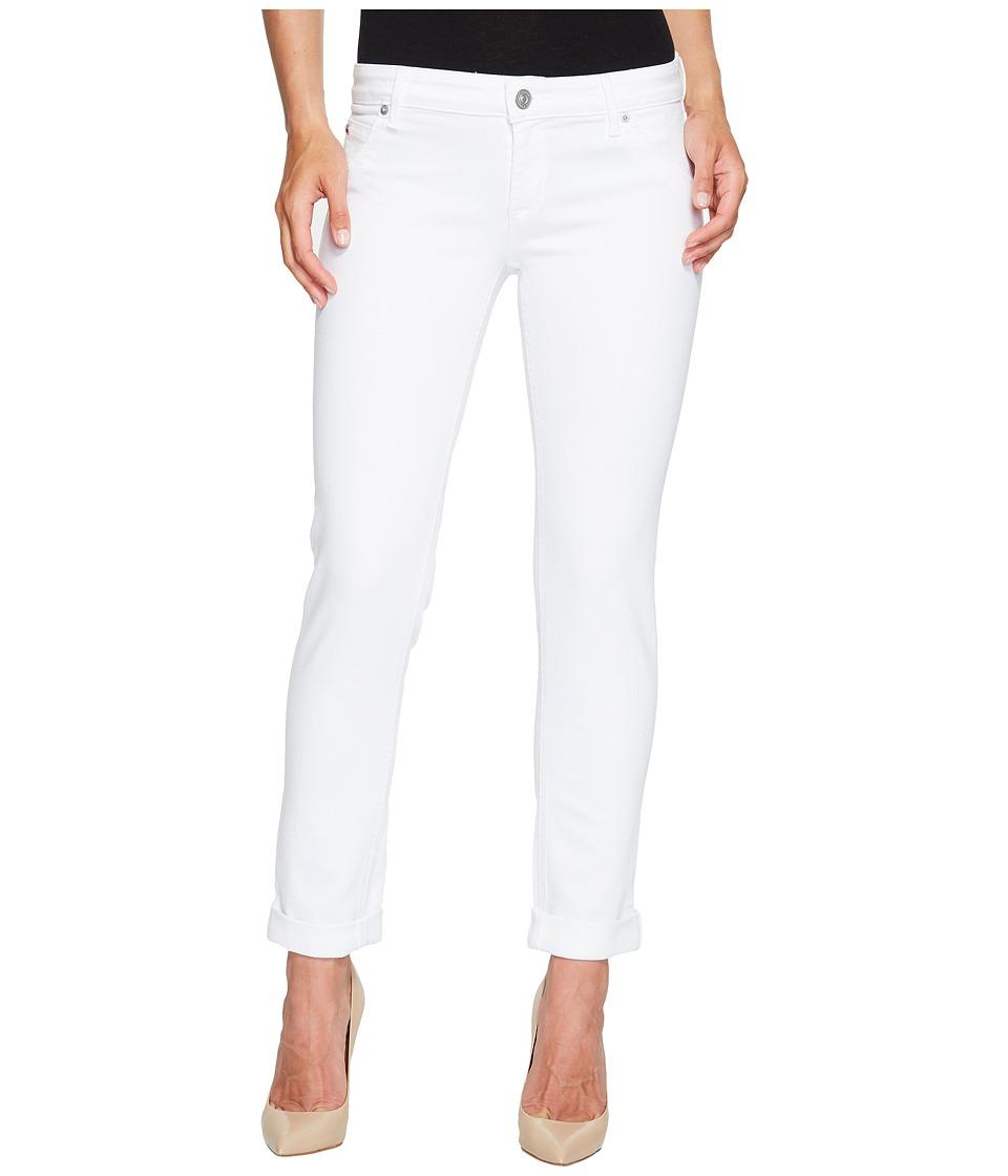 Hudson - Jax Boyfriend Skinny Flap Pocket Jeans in White (White) Women's Jeans