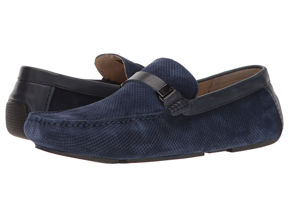 Kenneth Cole Reaction - Herd The Word (Navy) Men's Slip on Shoes