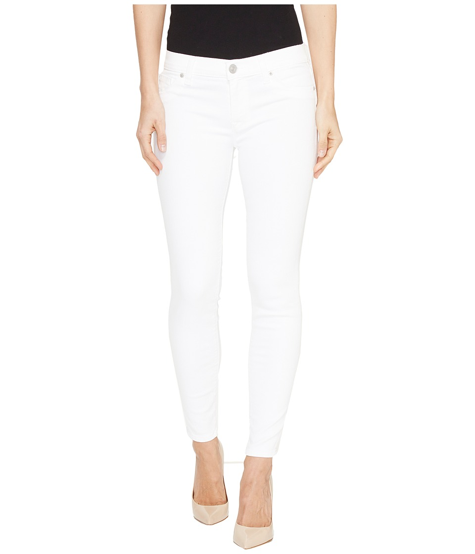 Hudson - Krista Super Skinny Crop Five-Pocket Jeans in White (White) Women's Jeans