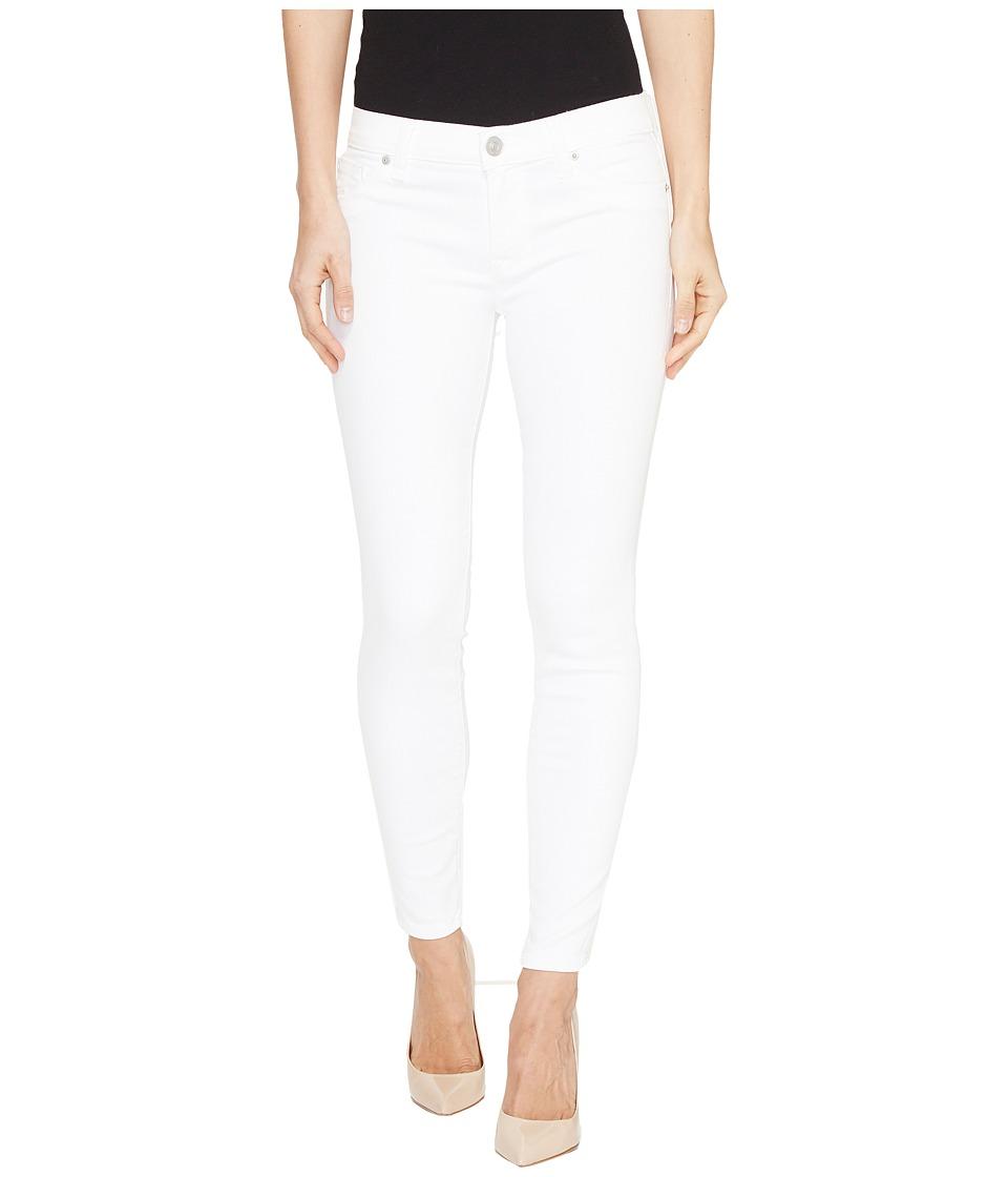 Hudson - Krista Super Skinny Crop Five-Pocket Jeans in White (White) Women's Jeans