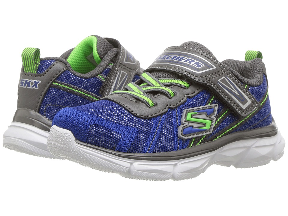 SKECHERS KIDS - Advance (Toddler) (Blue/Grey) Boy's Shoes