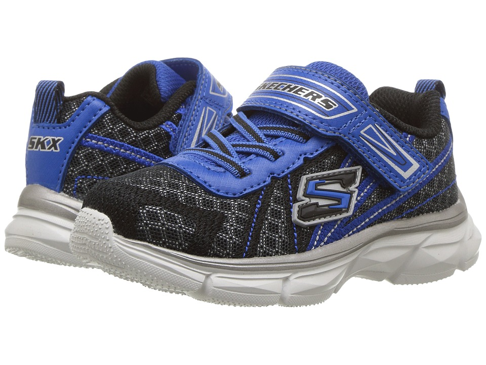 SKECHERS KIDS - Advance (Toddler) (Black/Royal) Boy's Shoes