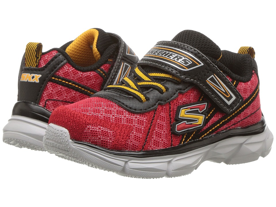 SKECHERS KIDS - Advance (Toddler) (Red/Black) Boy's Shoes