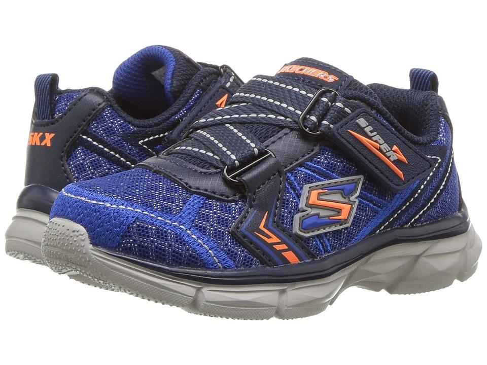 SKECHERS KIDS - Advance Super Z Sneaker (Toddler) (Blue/Navy) Boy's Shoes