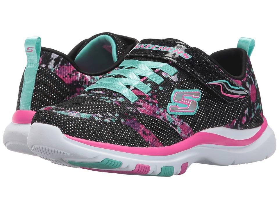 SKECHERS KIDS - Trainer Lite (Little Kid/Big Kid) (Black/Multi) Girl's Shoes