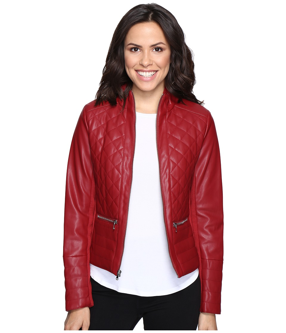 Kenneth Cole New York - Quilted Rebel Jacket (Ruby Red) Women's Coat