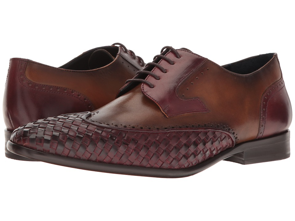 Messico - Paolo (Burgundy/Honey Leather) Men's Shoes