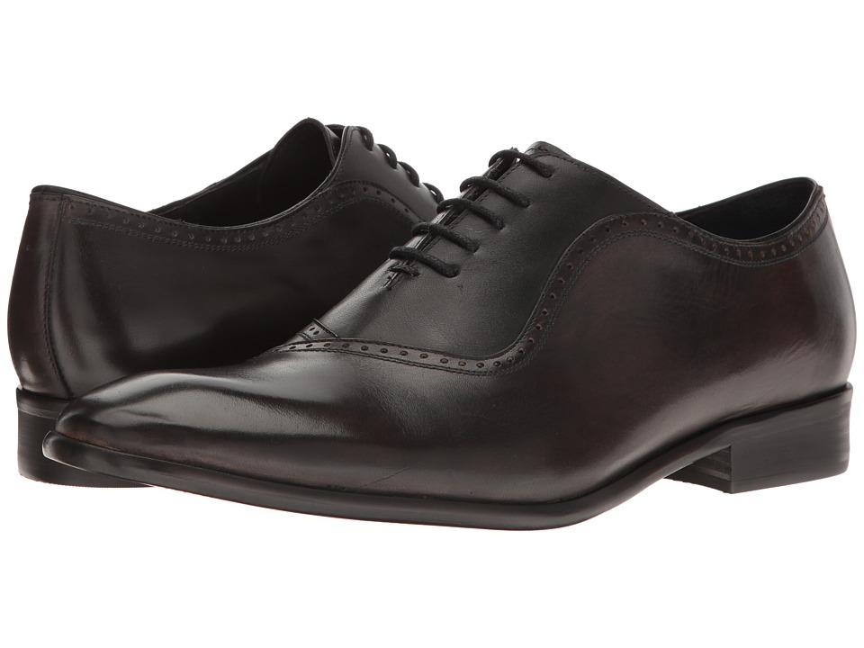 Messico - Osvaldo (Grey/Black Leather) Men's Lace Up Moc Toe Shoes