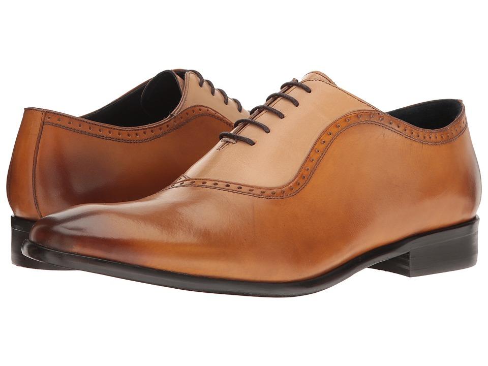 Messico - Osvaldo (Honey/Natural Leather) Men's Lace Up Moc Toe Shoes