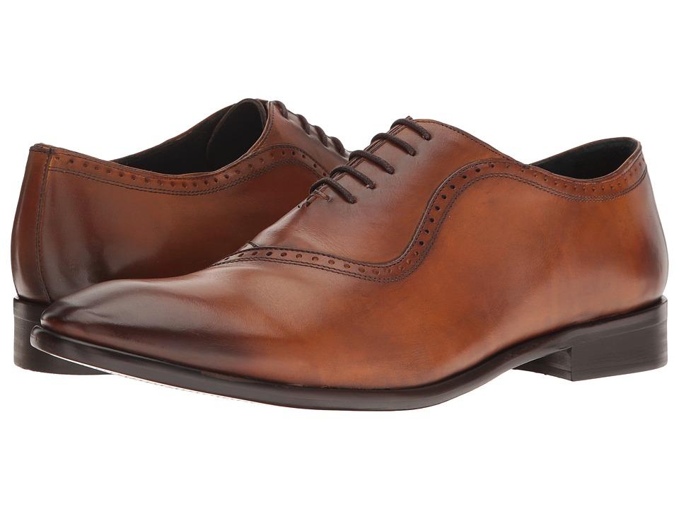 Messico - Osvaldo (Burnished Honey Leather/Honey Suede) Men's Lace Up Moc Toe Shoes