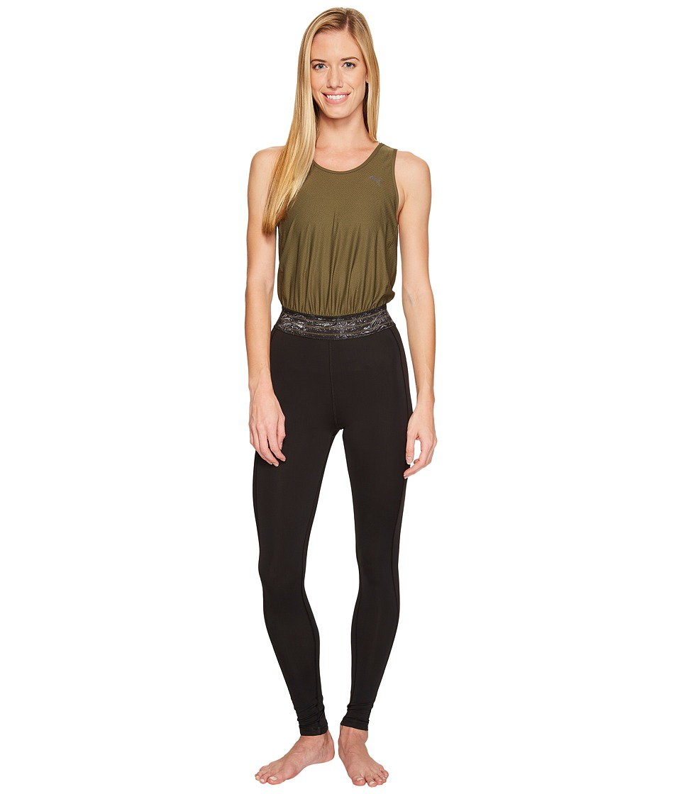 PUMA - Explosive Bodysuit (Olive Night) Women's Jumpsuit & Rompers One Piece