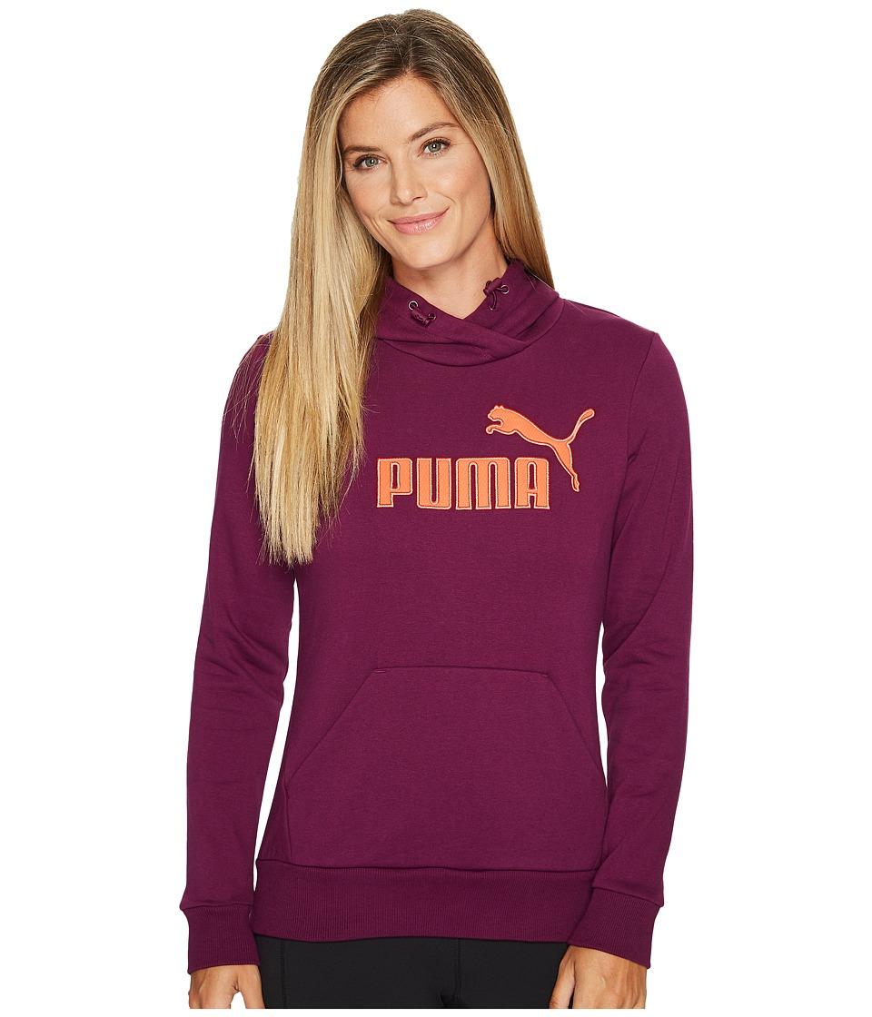 PUMA - Elevated Logo Hoodie (Dark Purple) Women's Sweatshirt